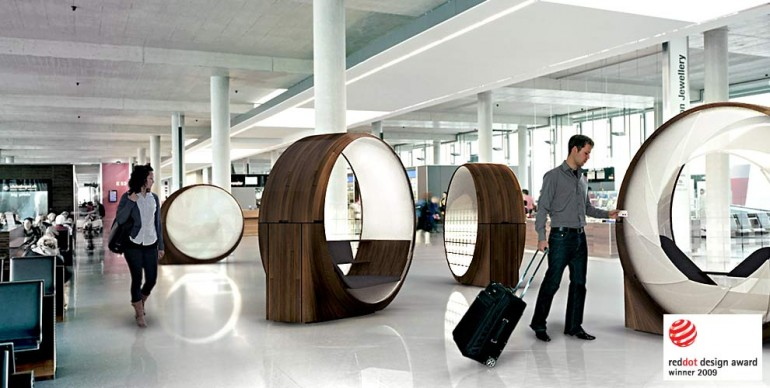 obsideon pod rethinking the airport experience swiss. Black Bedroom Furniture Sets. Home Design Ideas